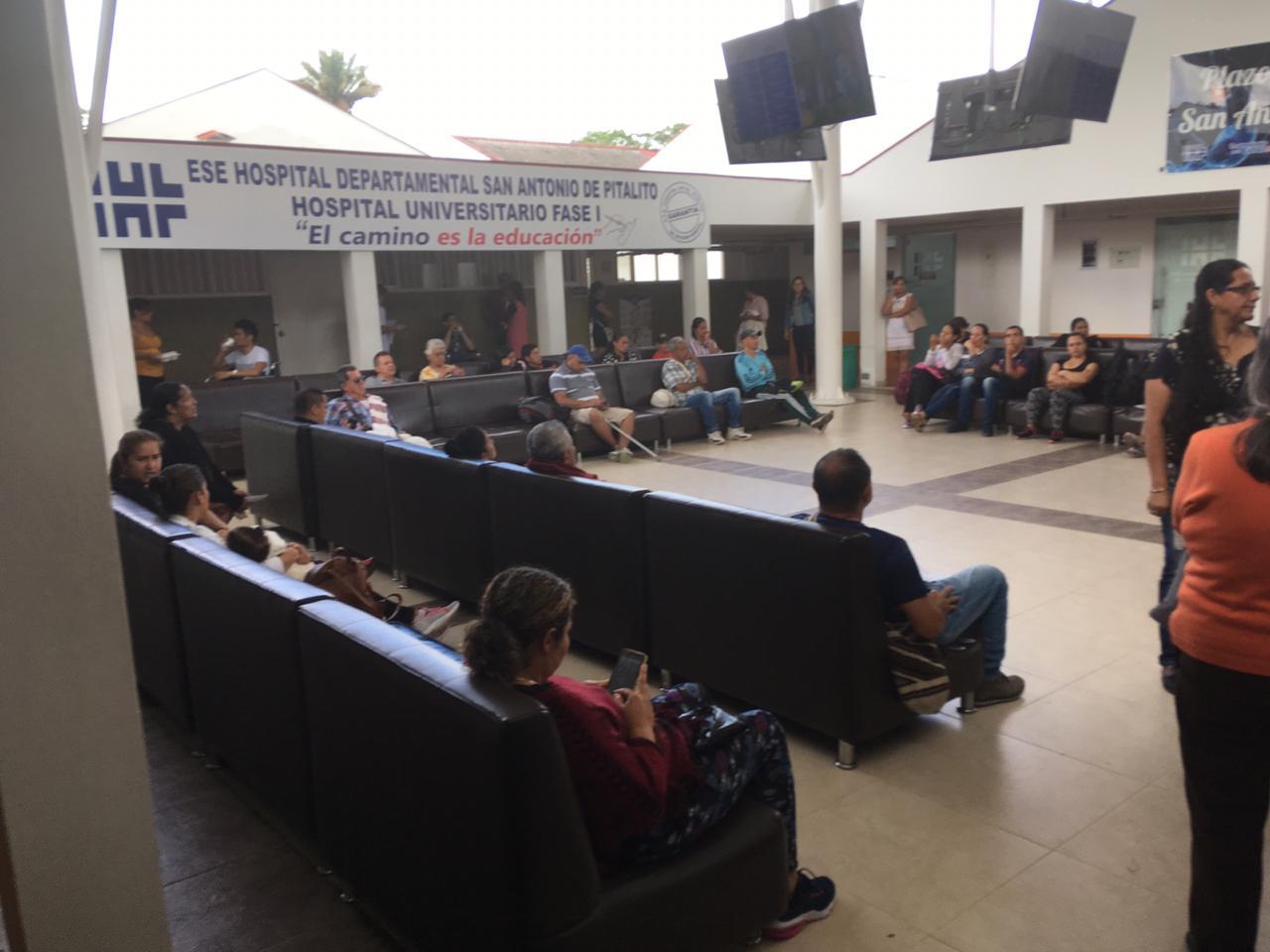 Sala de espera del hospital San Antonio de Pitalito (Huila)