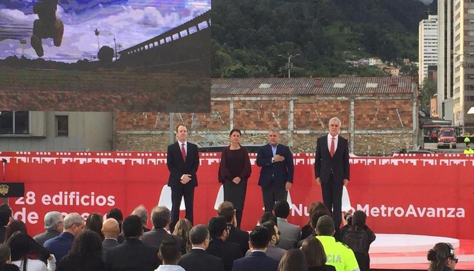 Lanzamiento de la licitación del metro para Bogotá