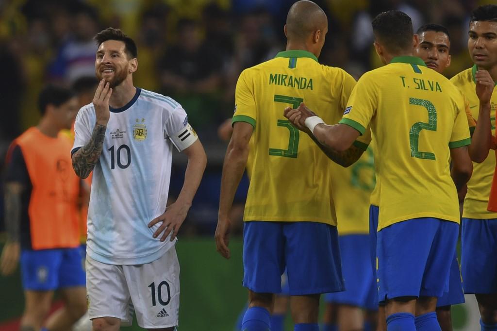 Messi en un Brasil vs Argentina (Copa América Brasil 2019)