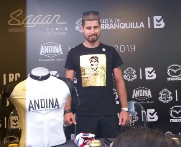 Peter Sagan en Barranquilla