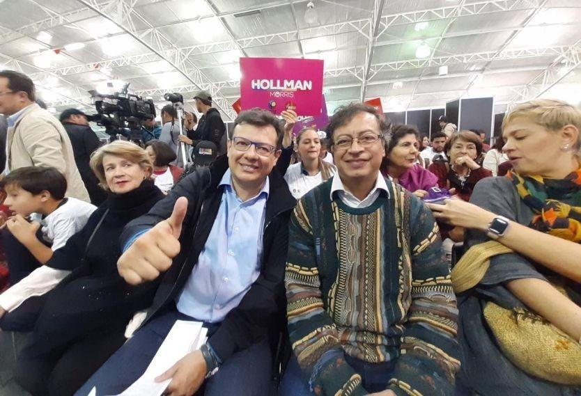 Hollman Morris y Gustavo Petro