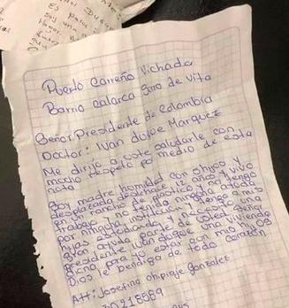 La carta de Josefina Chipiaje