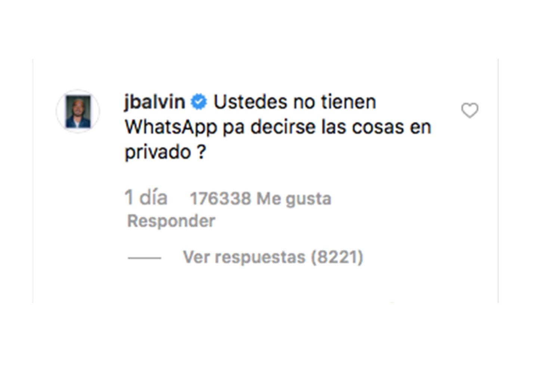 Así fue el mensaje de J Balvin para Sebastián Villalobos