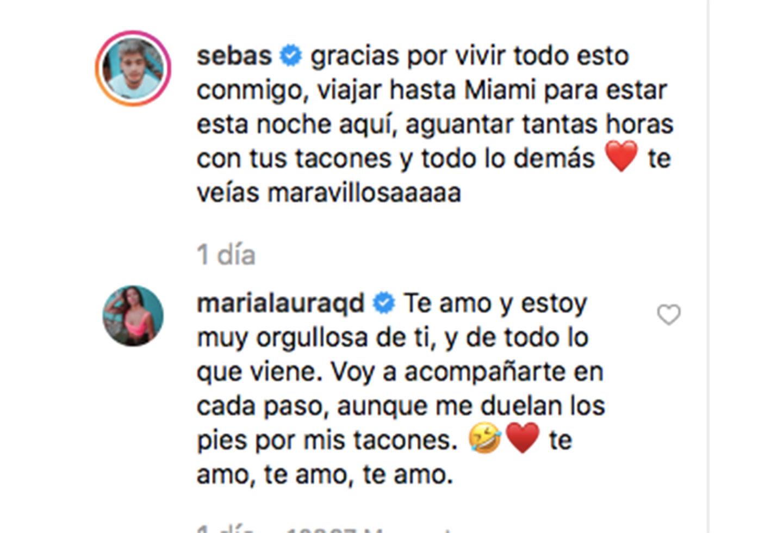 Así fue el mensaje de Sebastián Villalobos y su pareja.