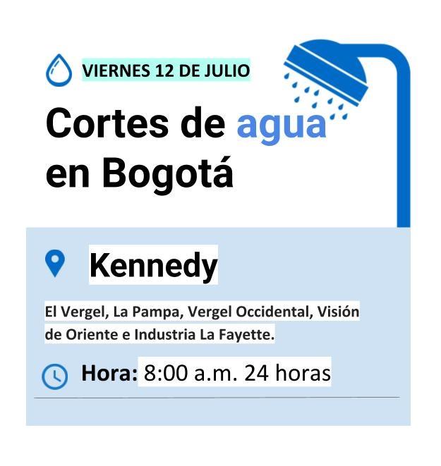 Plantilla cortes de agua viernes 12 de julio de 2019