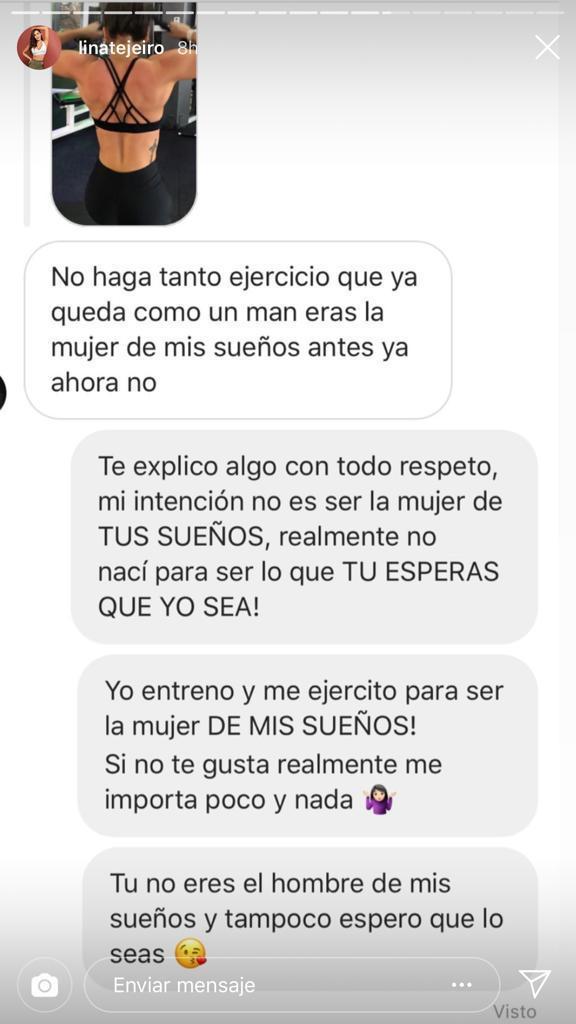 Lina Tejeiro chat con fan