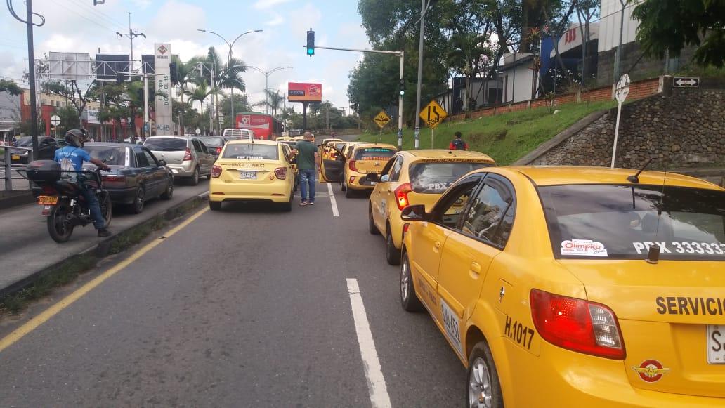 Protesta taxistas Pereira