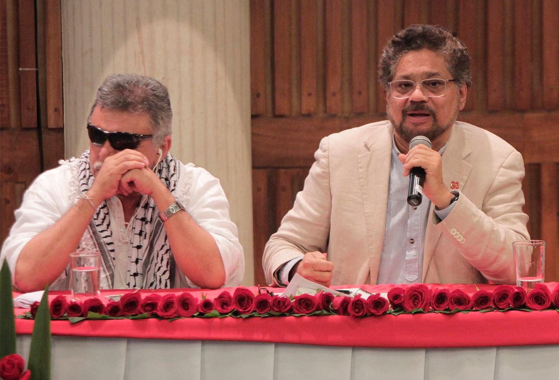Jesús Santrich e Iván Márquez - diciembre de 2017