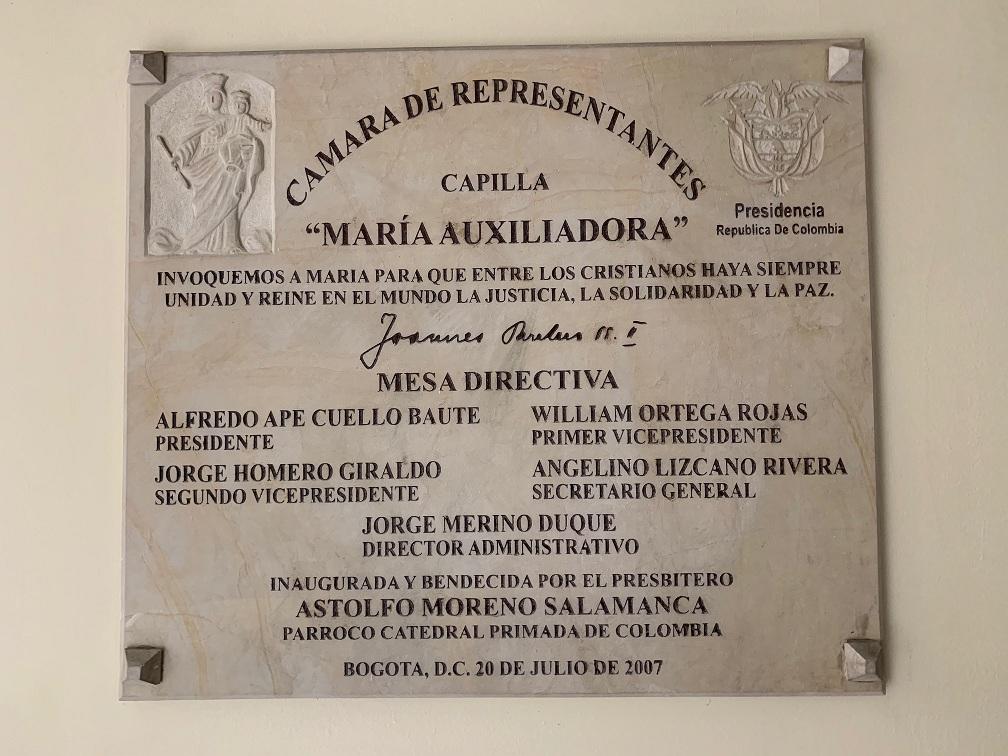 Placa 5 Capilla Congreso