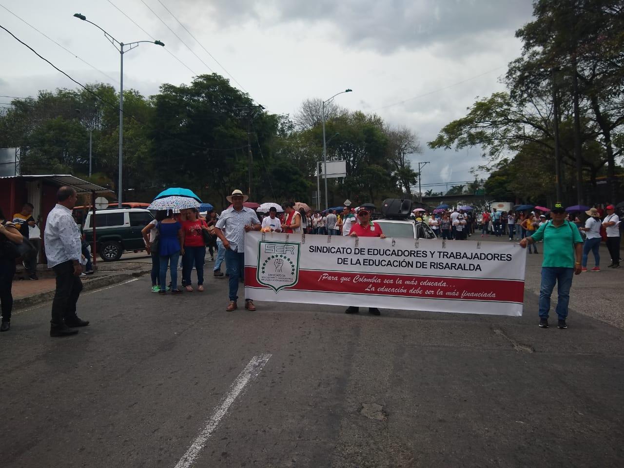 Marchas de Fecode en Pereira.