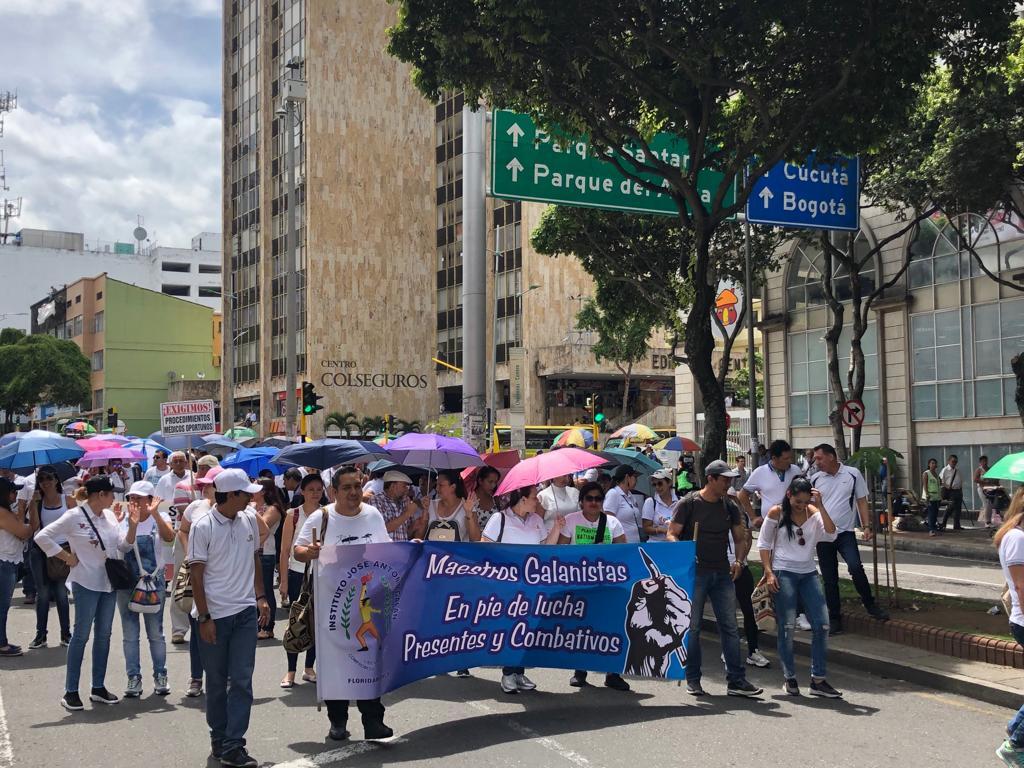 Marchas de Fecode en Bucaramanga.