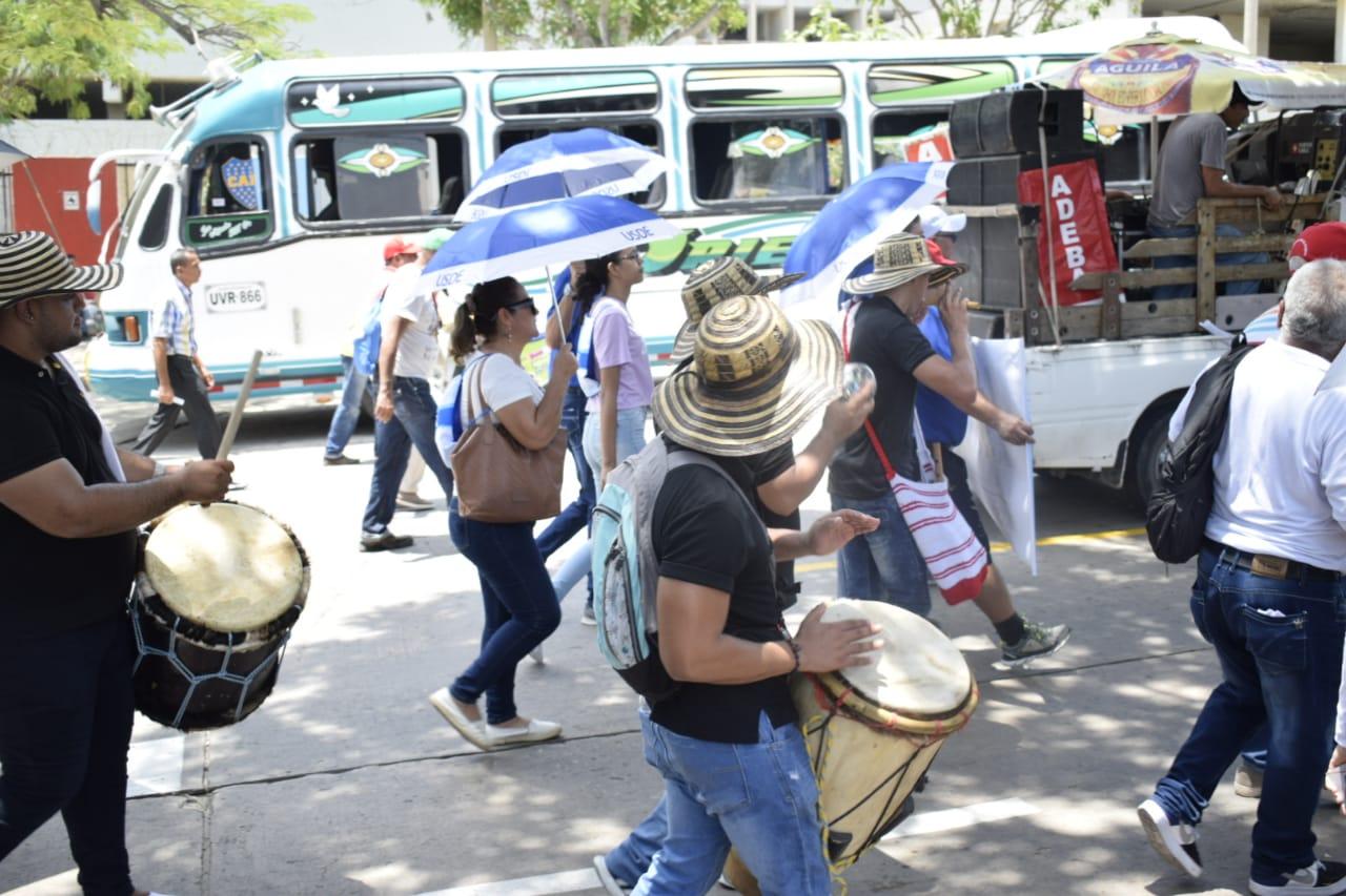 Manifestaciones de Fecode en Barranquilla.