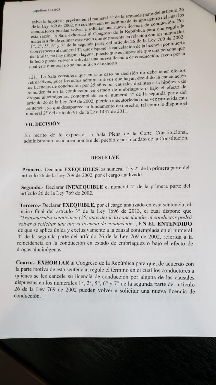 DECISIÓN DE LA CORTE CONSTITUCIONAL