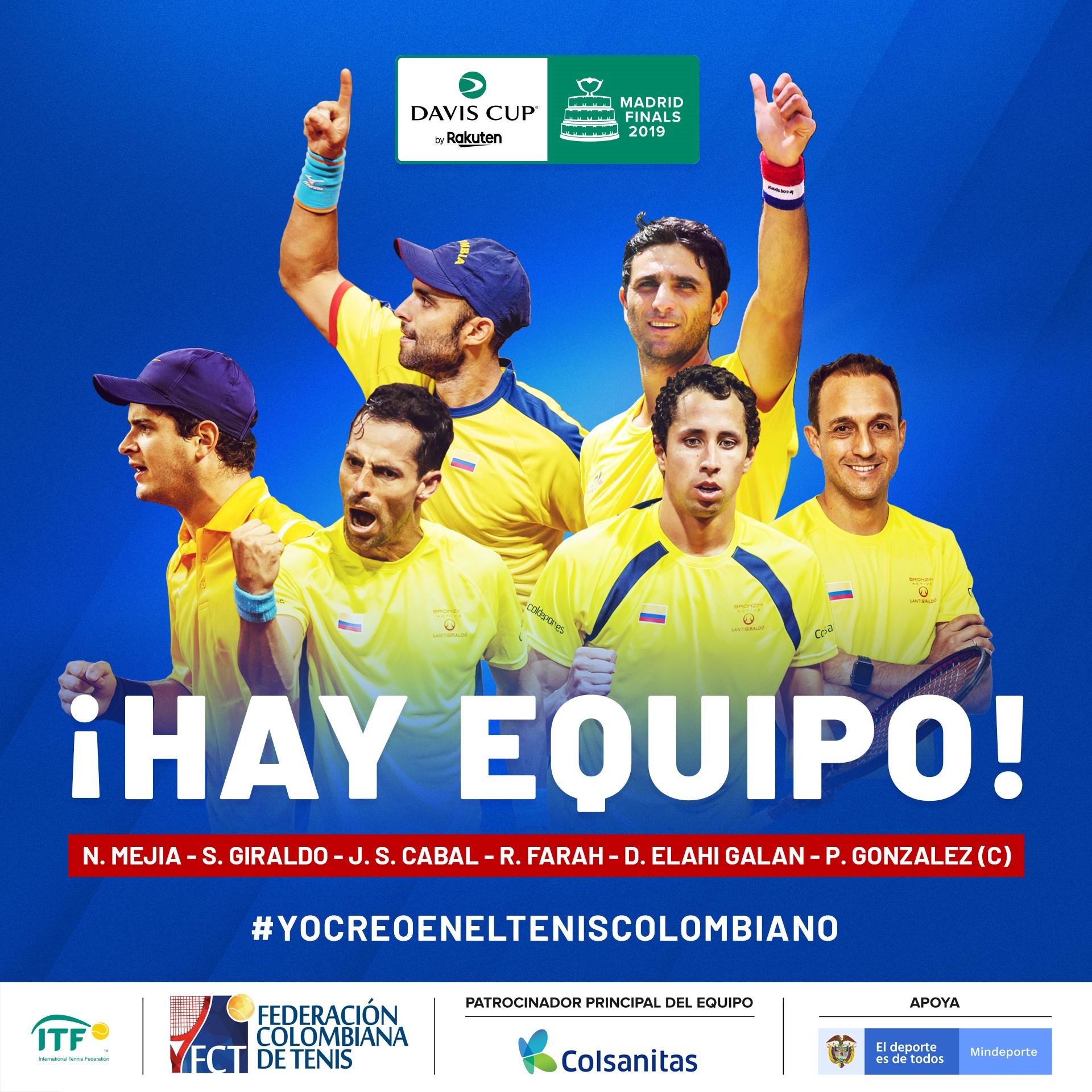 Equipo Colombia 'Copa Davis'