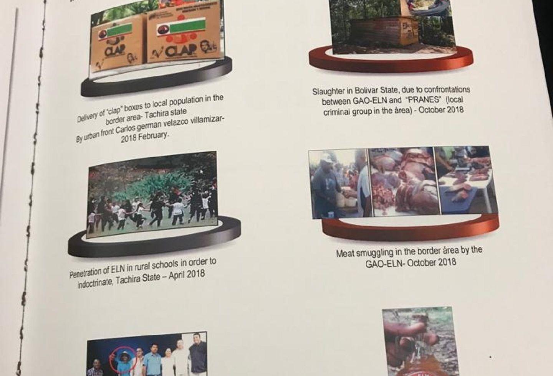 Foto del ELN en el informe