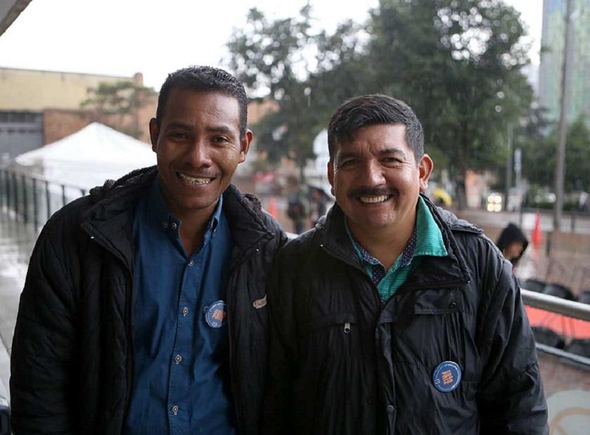 Gonzalo Beltrán y Jimmy Rodríguez, excombatientes de las Farc