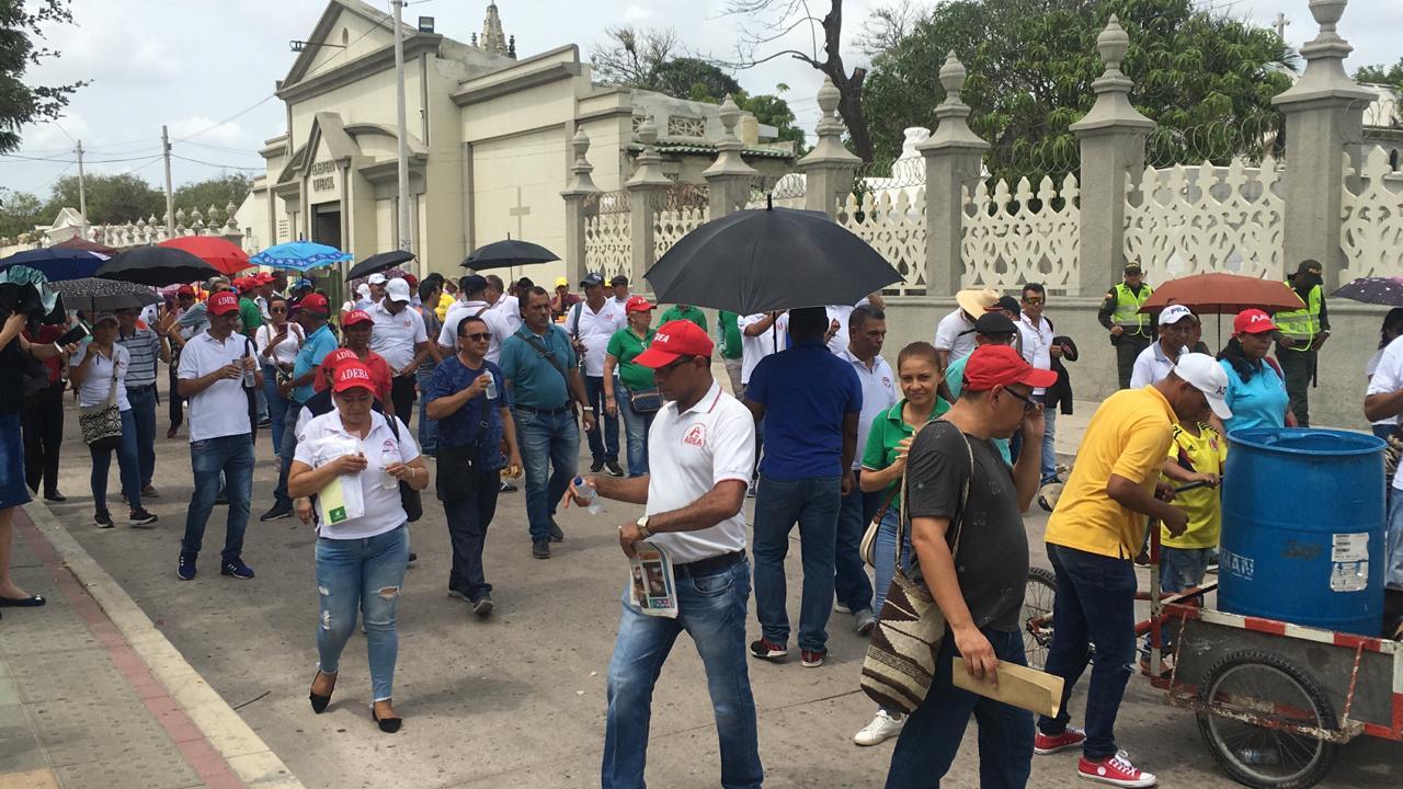 Maestros marchan en Barranquilla.