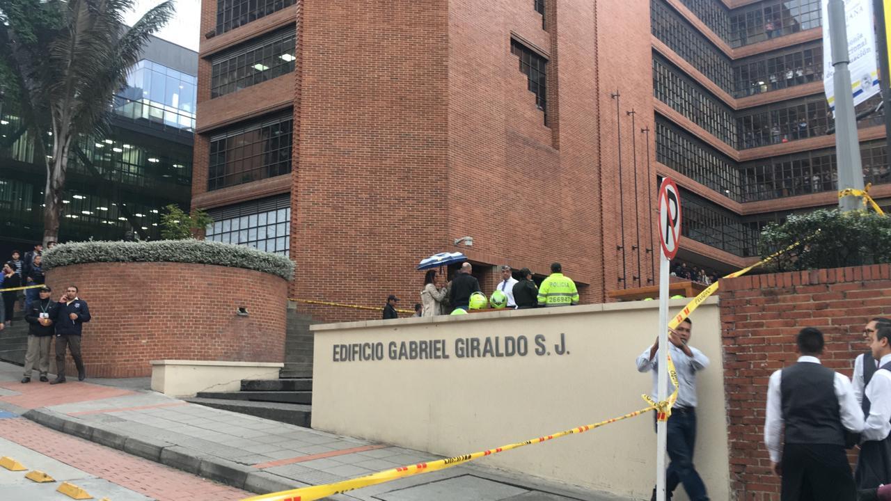Edificio Gabriel GIraldo de la Universidad Javeriana, donde ocurrió el suicidio.