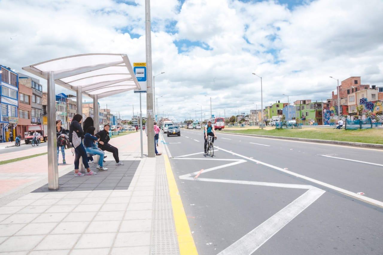 Nueva Avenida Tabor, en la localidad de Suba, en Bogotá.