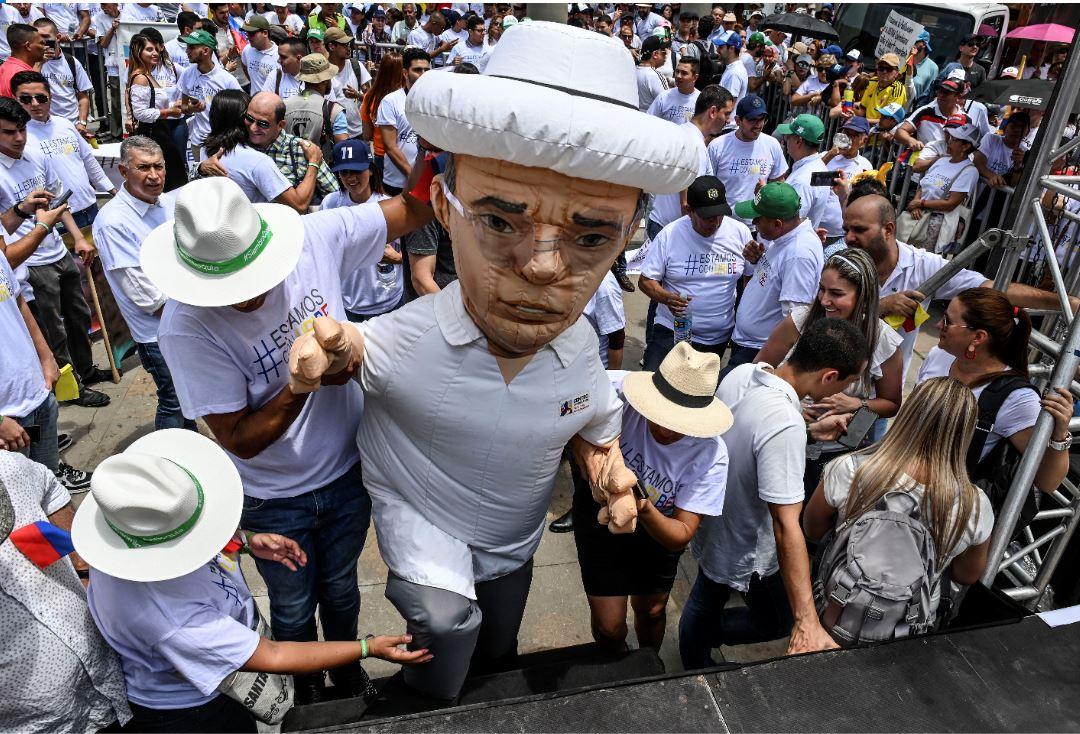 Manifestaciones en favor del expresidente Álvaro Uribe