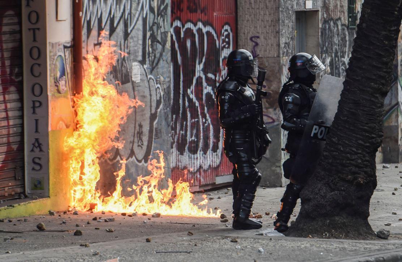 En disturbios terminaron las movilizaciones de estudiantes universitarios.