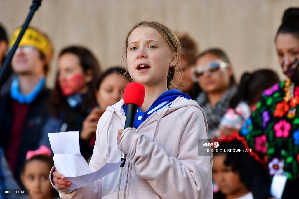 La activista medioambiental sueca Greta Thunberg