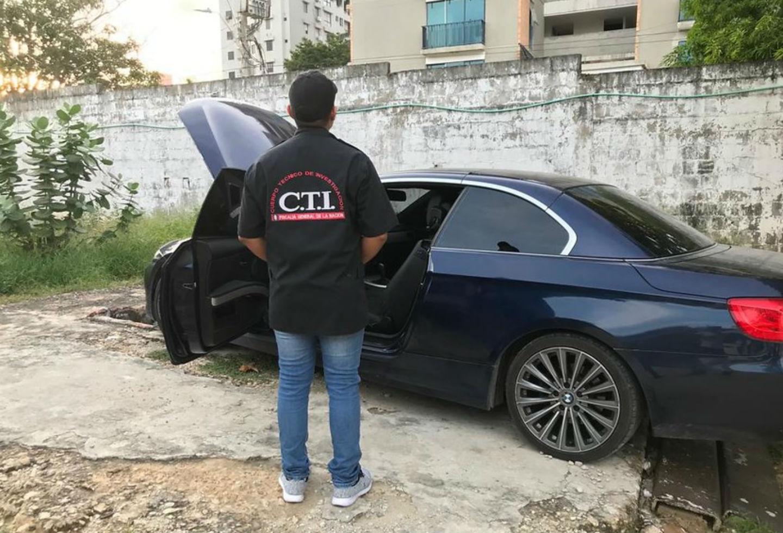 Carro BMW de Aida Merlano