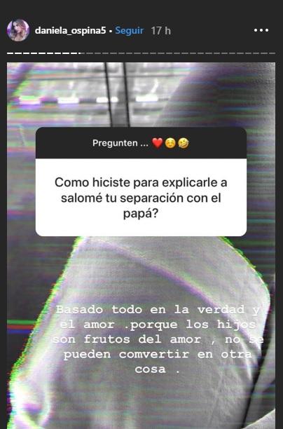 Historias de Instagram de Daniela Ospina