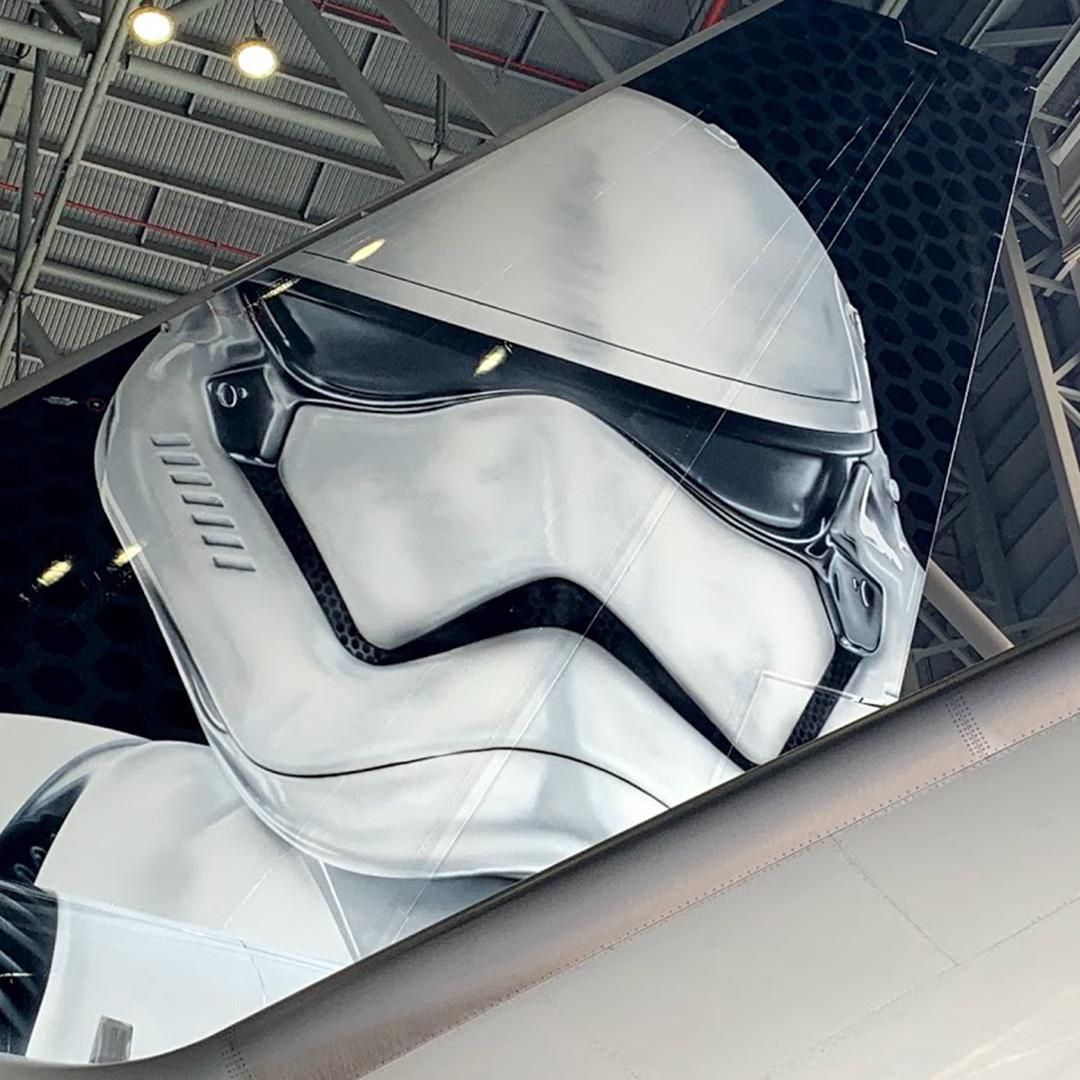 El 'Stormtrooper Plane' de Boeing, inspirado en Star Wars
