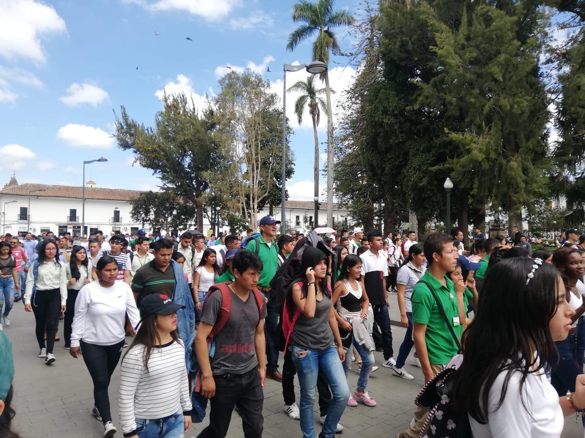 Nueva jornada de marchas en Popayán.