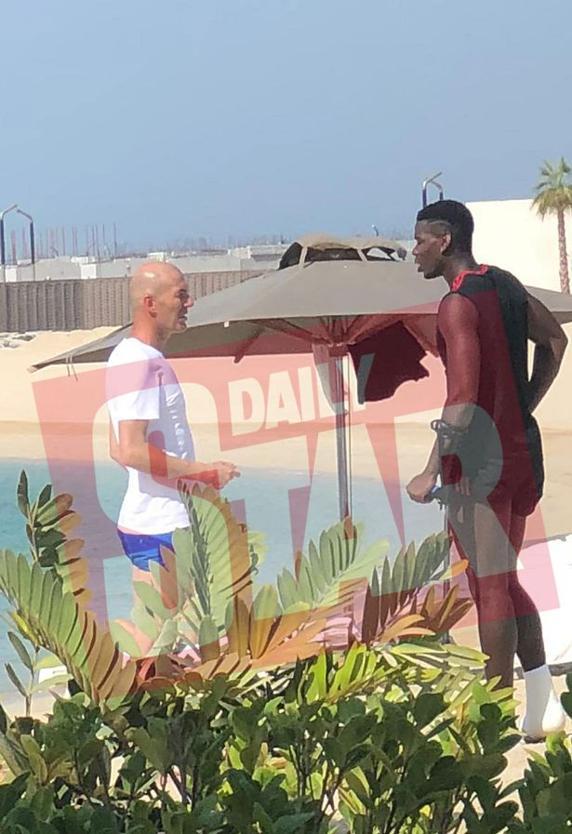Reunión secreta de Zidane y Paul Pogba - Foto del 'Daily Star'