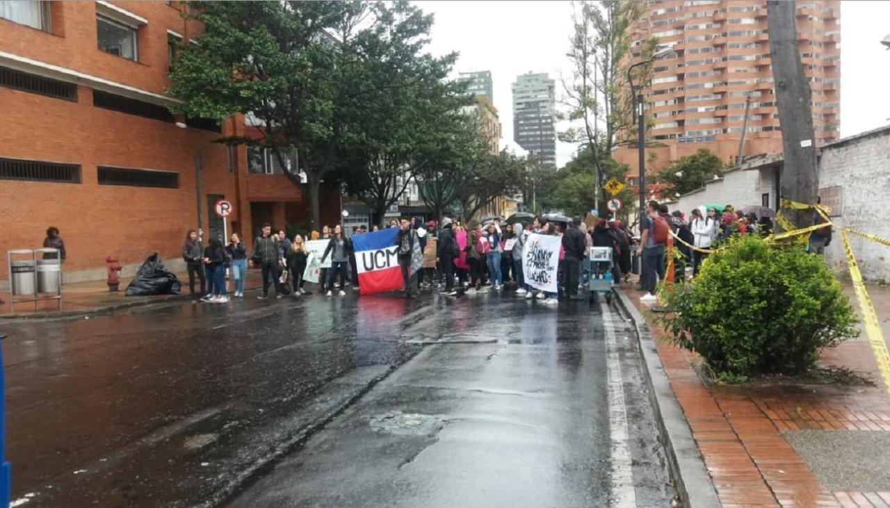 Bloqueos en Bogotá, en la carrera quinta