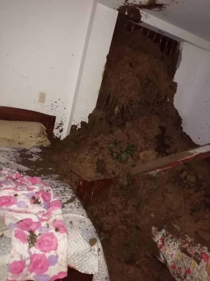 Sólo daños materiales se presentaron en medio de la emergencia.