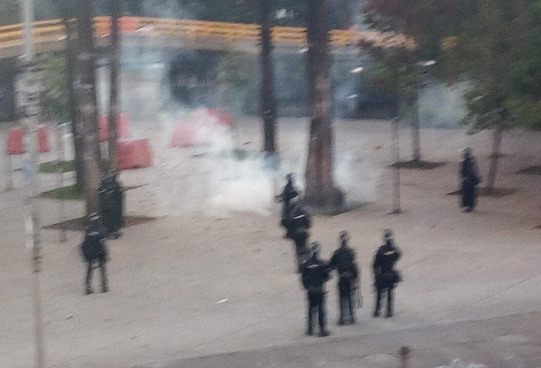 Enfrentamientos entre estudiantes de la U. Nacional y el Esmad