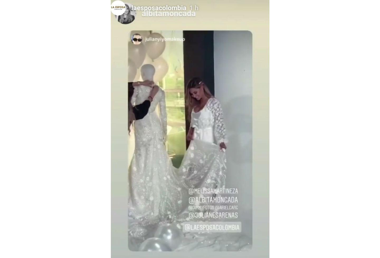 Melissa Martínez y su vestido de novia