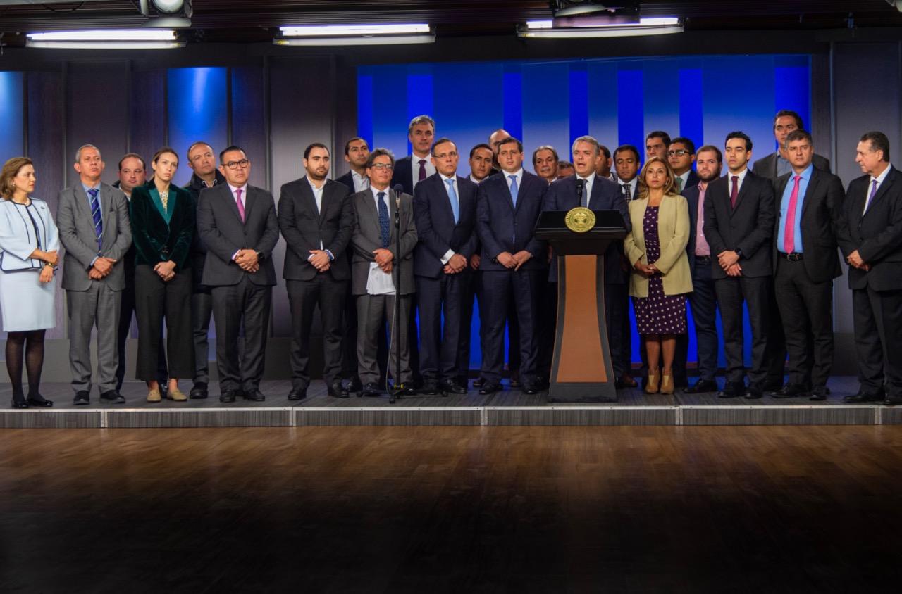 Presidente Iván Duque y Congreso acuerdan reforma tributaria.