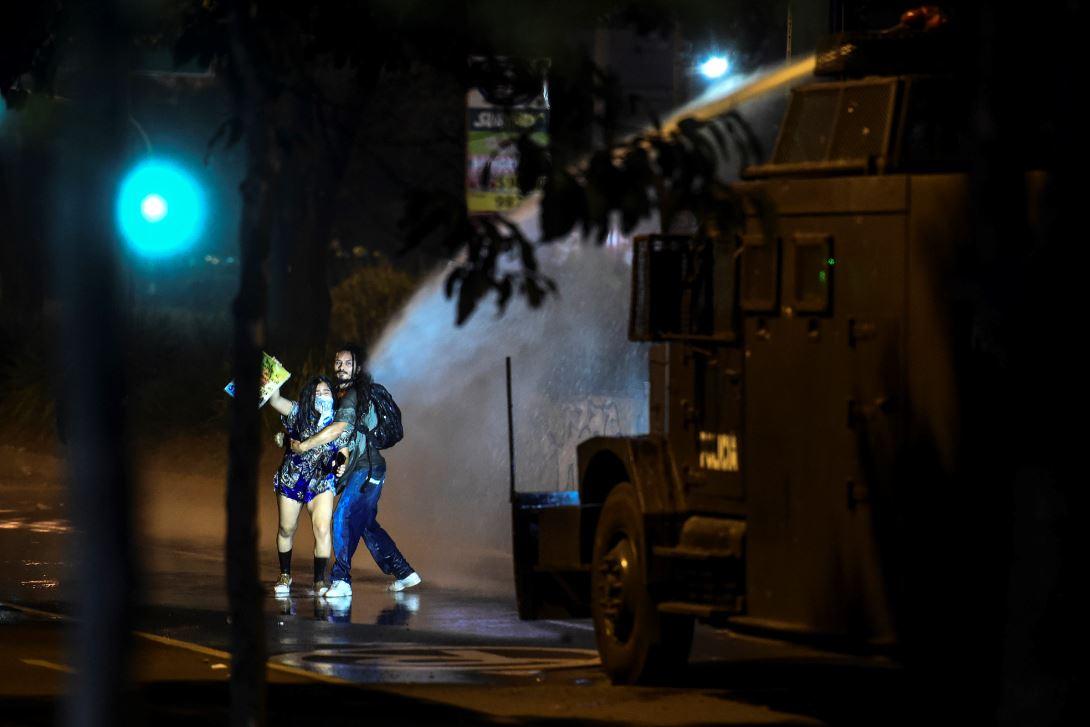 Enfrentamientos en Medellín durante el paro nacional.