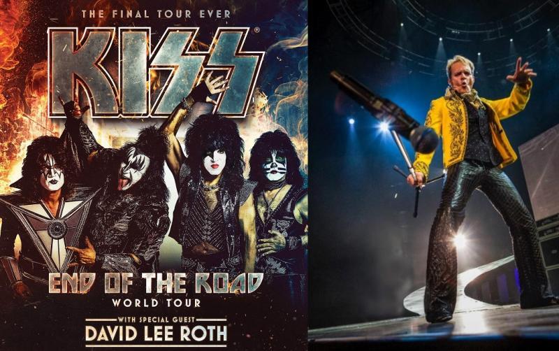 KISS confirmó que David Lee Roth como invitado especial en su gira en Estados Unidos