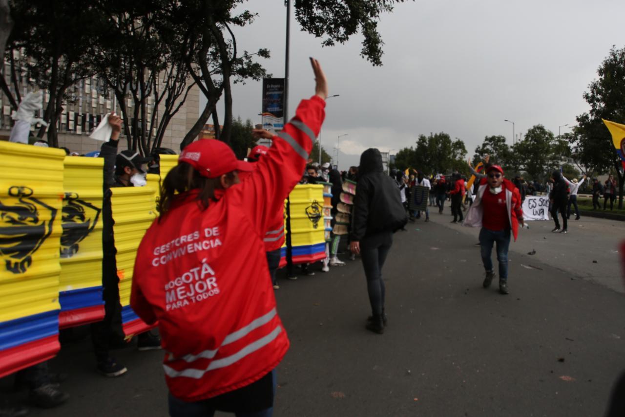Los gestores de convivencia están, desde hace 11 años, acompañando las marchas