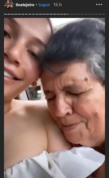 Lina Tejeiro y su abuela