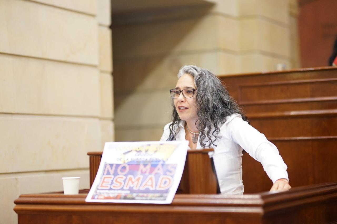 María José Pizarro en el debate al Gobierno por las acciones del Esmad