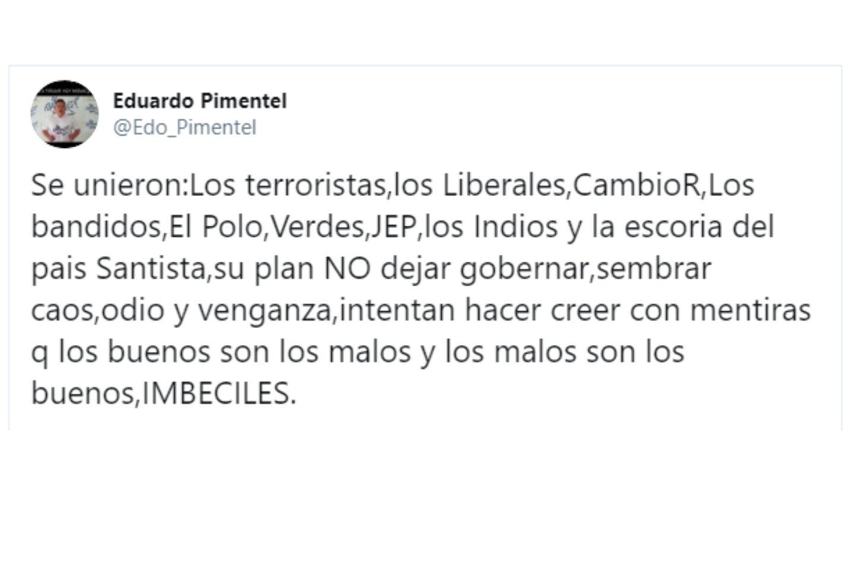 Así fue el mensaje de Pimentel contra los promotores del paro.