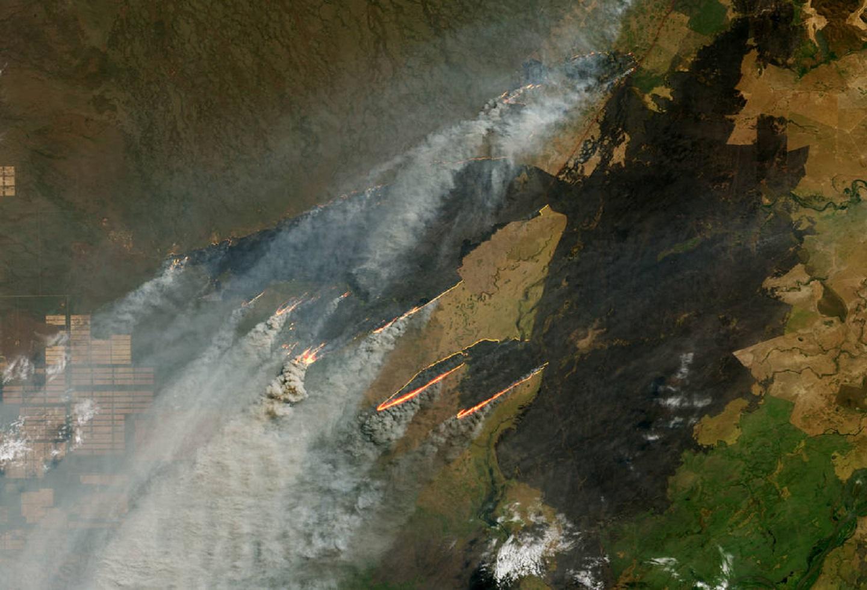 Incendios en Paraguay, Brasil y Bolivia