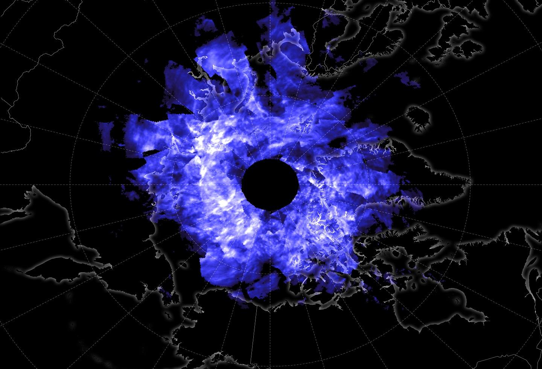 Nubes sobre el Polo Norte