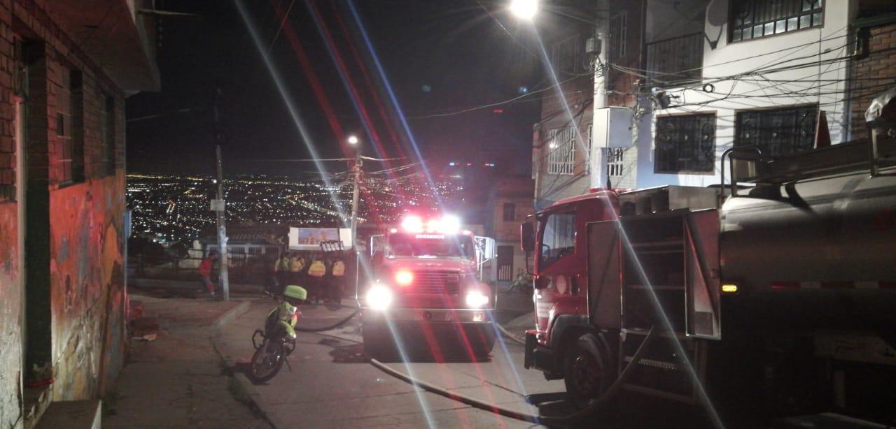 Incendio en Los Laches.