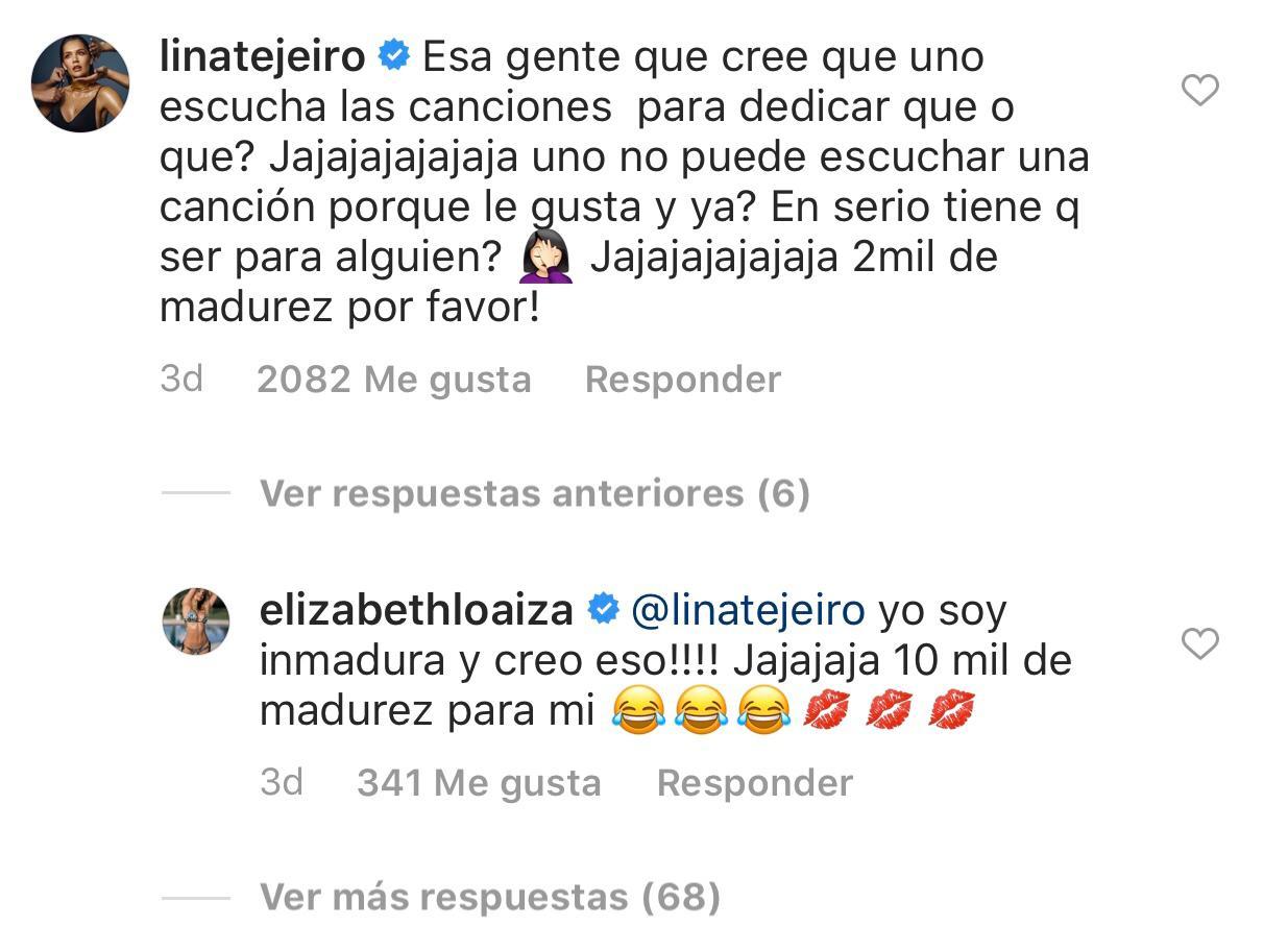 Captura Instagram - Indirecta de Lina Tejeiro