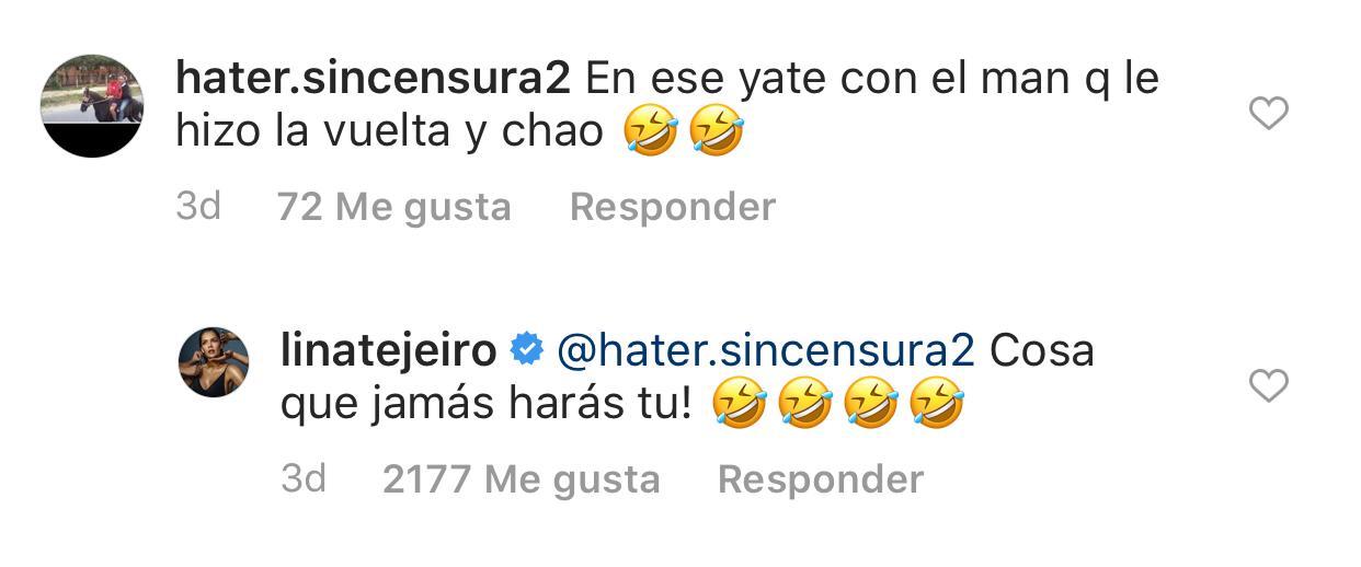 Captura Instagram - Lina Tejeiro