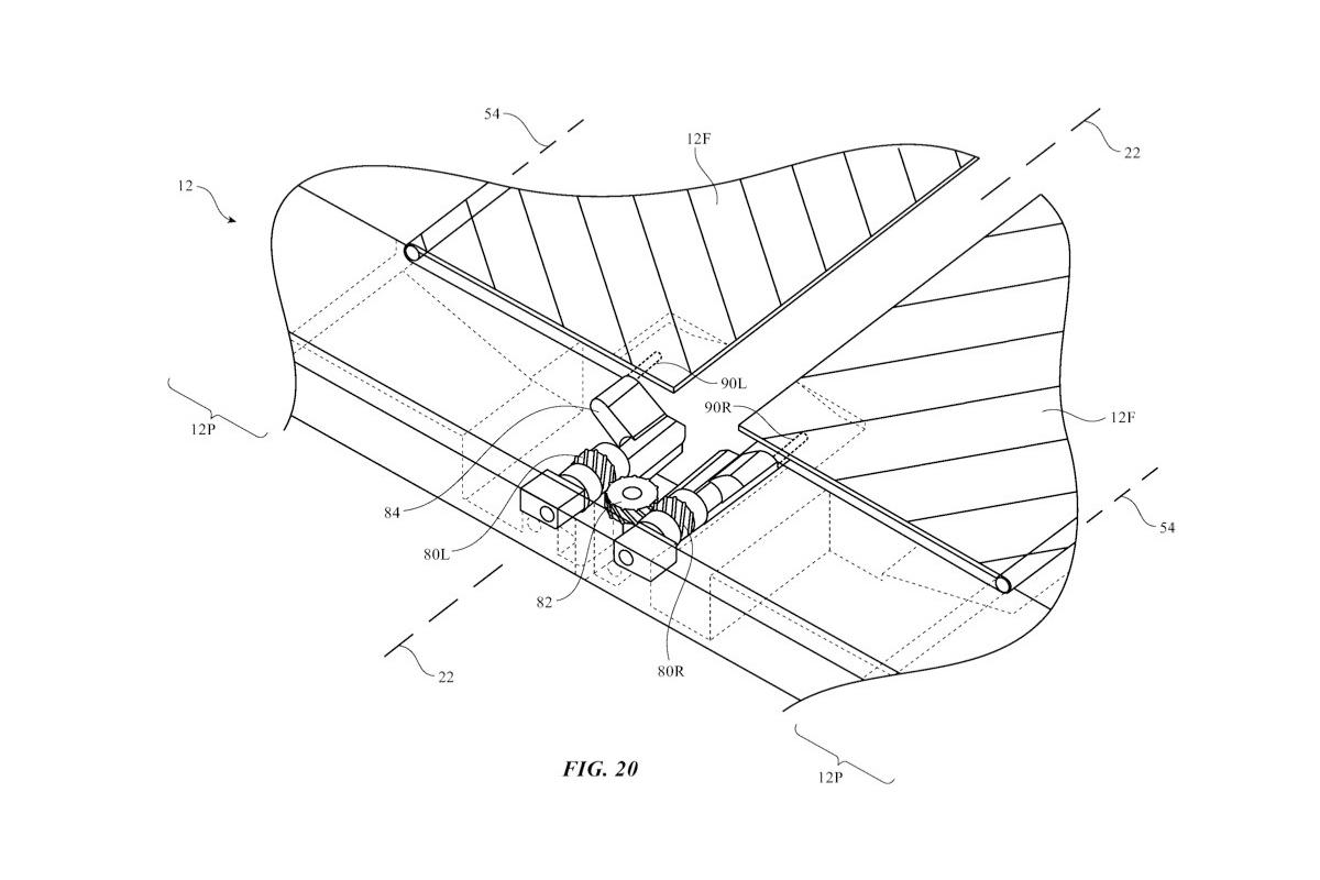 Plano patente de iPhone plegable
