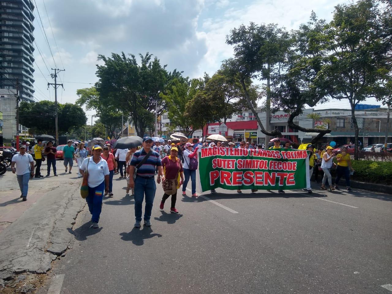 Manifestaciones de Fecode en Ibagué.
