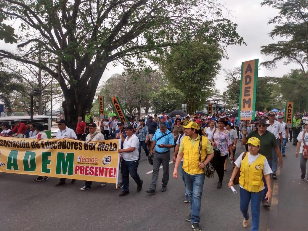 Manifestaciones de Fecode en Villavicencio.